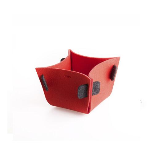 WEEW-design-sostenibile-contenitore-portaoggetti-feltro-riciclato-idea-per-casa-e-ufficio-TULIP rosso 1