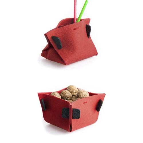 WEEW-design-sostenibile-contenitore-portaoggetti-feltro-riciclato-idea-per-casa-e-ufficio-TULIP rosso 2