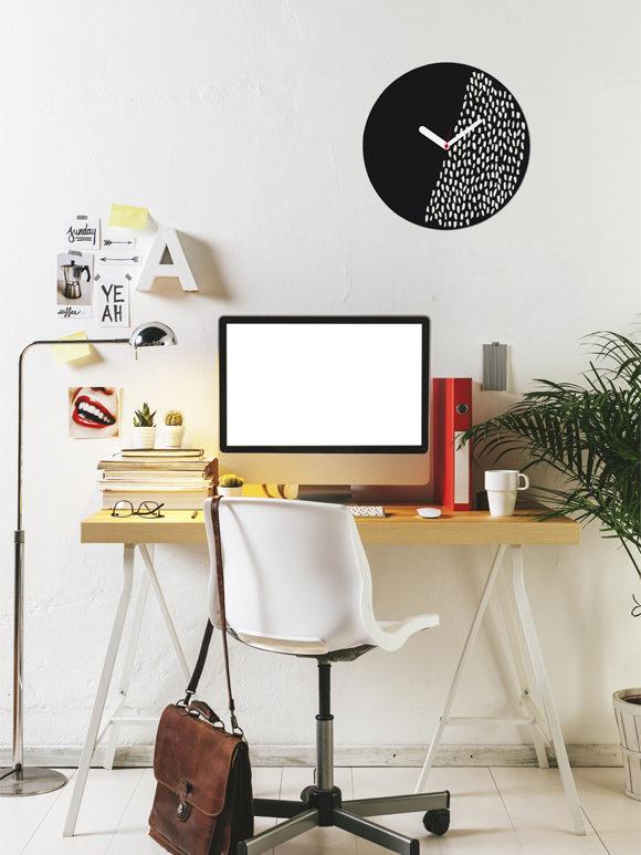 bottoni idee decorative originali : Decorative Wall Clock - Customisable for home and office decor