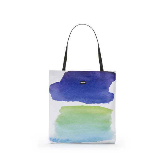 01 WEEW Smart Design-borsa-shopper-bag-colorata-fantasia-estate- ACQUA 01