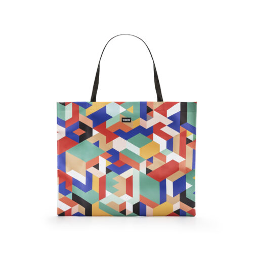 01 WEEW Smart Design-borsa-shopper-bag-tote-bag-city-bag-colorata-fantasia-GEOMETRICO 01