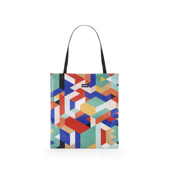 03 WEEW Smart Design-borsa-shopper-bag-colorata-fantasia-GEOMETRICO 01