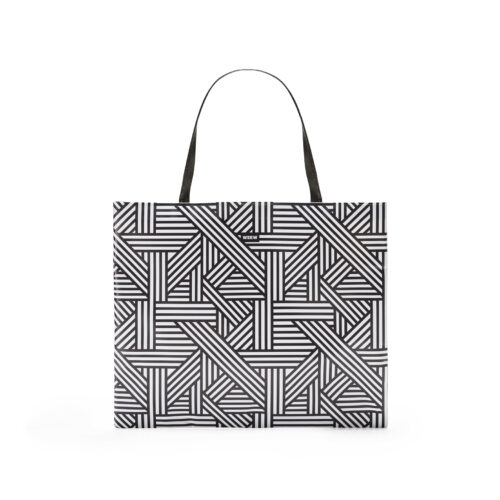 03 WEEW Smart Design-borsa-shopper-bag-tote-bag-city-bag-colorata-fantasia-portadocumenti - BIANCO E NERO 01