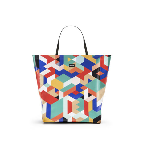 03 WEEW Smart Design-borsa-shopper-bag-tote-bag-colorata-fantasia-estate-GEOMETRICO 01