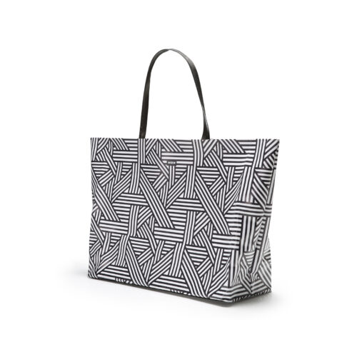 06 WEEW Smart Design-borsa-mare-shopper-bag-tote-bag-city-bag-colorata-fantasia-spiaggia-estate-BIANCO E NERO 02