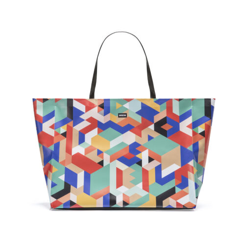07 WEEW Smart Design-borsa-mare-shopper-bag-tote-bag-city-bag-colorata-fantasia-spiaggia-estate-GEOMETRICO 01