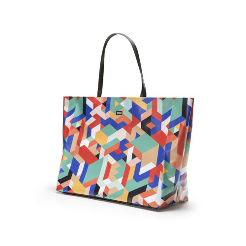 08 WEEW Smart Design-borsa-mare-shopper-bag-tote-bag-city-bag-colorata-fantasia-spiaggia-estate-GEOMETRICO 02