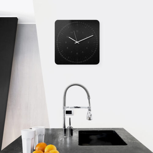 EDGE Wall Clock-WEEW-Smart-Design-Wall-Clock-Aluminium-brushed-elegant-finish-minimal-silent-metal-hands-home-decor