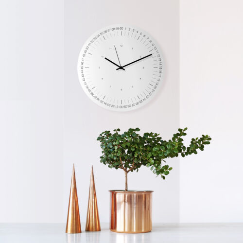 HOOP Wall Clock-WEEW-Smart-Design-Wall-Clock-Aluminium-minimal-stylish-clock-silent-metal-hands