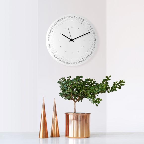 HOOP Wall Clock-WEEW-Smart-Design-Wall-Clock-Aluminium-minimal-stylish-clock-silent-metal-hands