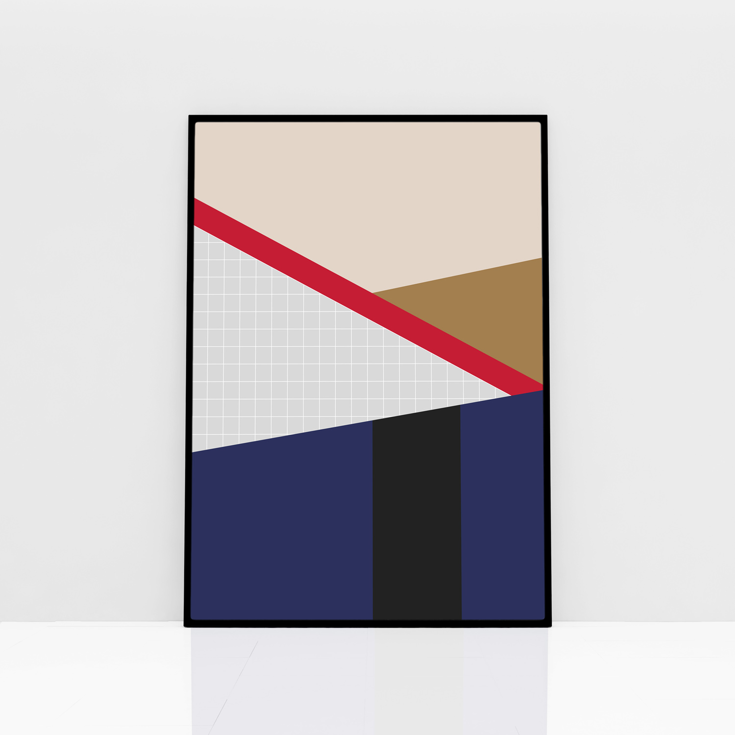 Cool poster of an abstract landscape italian design for Landscape design paper
