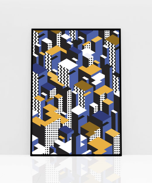 PT-VYBLU 1-Poster-WEEW-Smart-Design-Vertical-City-blu-Paper-printed-poster-high-quality