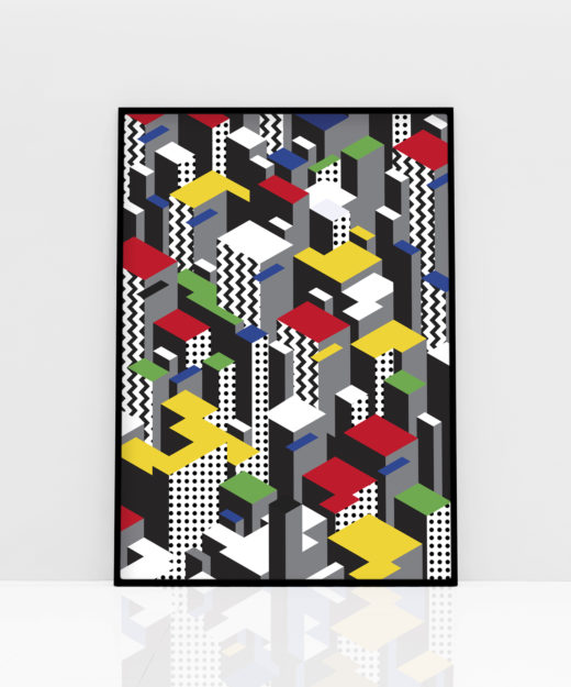 PT-VYRED 1-Poster-WEEW-Smart-Design-Vertical-City-red-Paper-printed-poster-home-decor-gift-idea