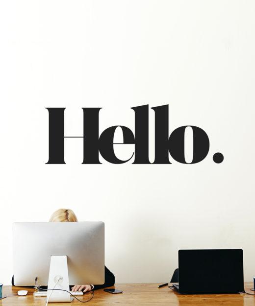 WM-HELLO 1-WEEW-Smart-Design-Home-decor-wall-deco-Hello-adesivo-murale-arredamento-casa-ufficio-rinnovare-ingresso-di-casa