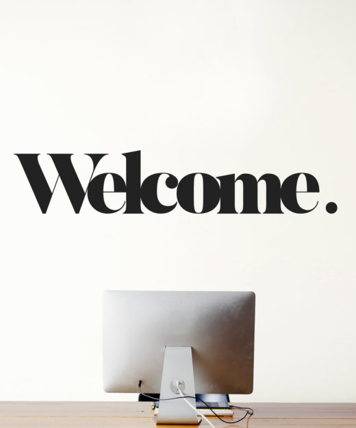 Wall art sticker welcome wall message for Plaque decorative murale