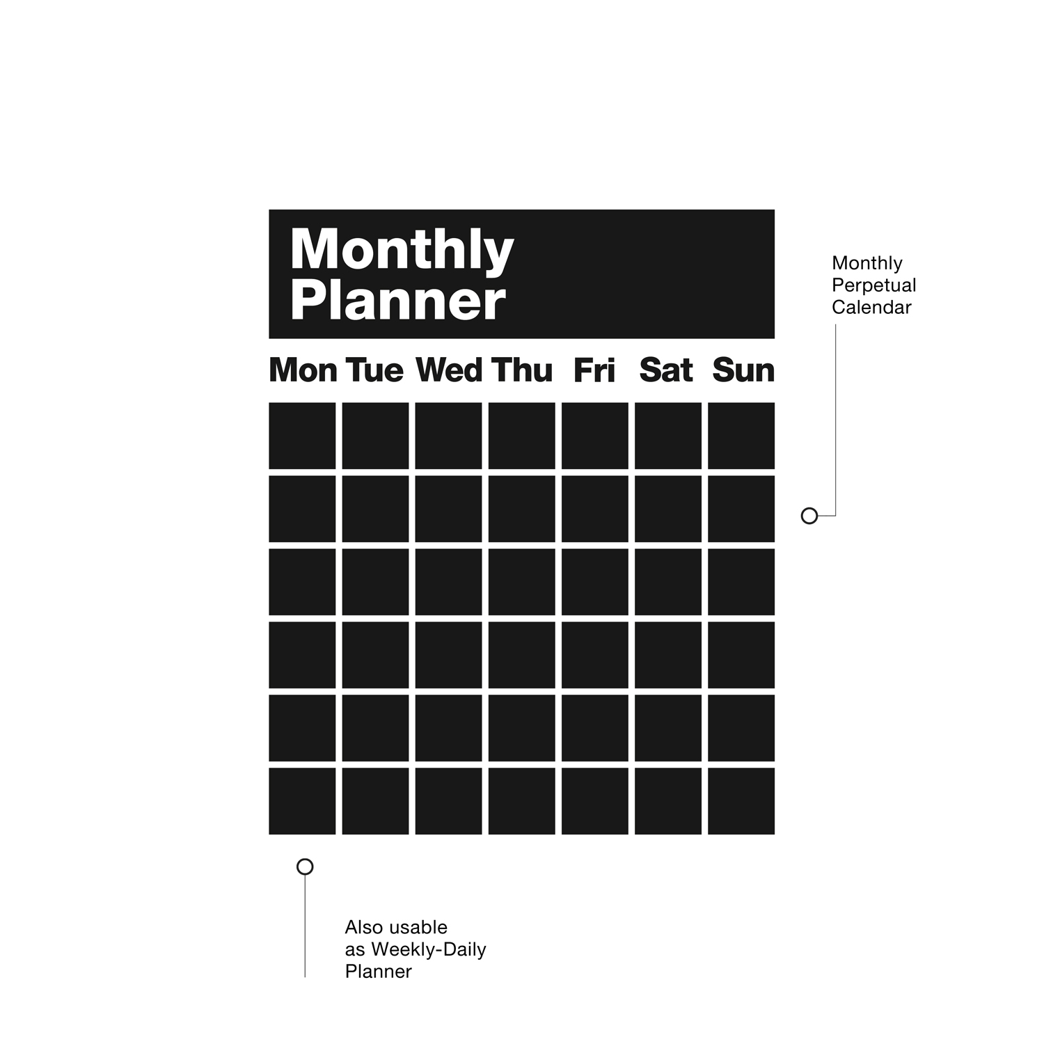 monthly planner adhesive blackboard easy to apply and remove prev