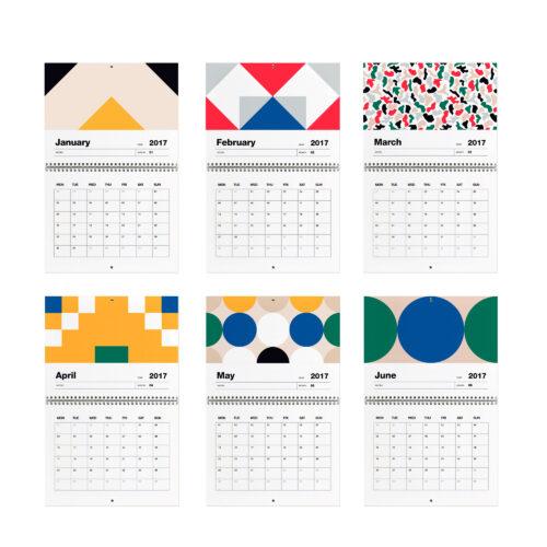 Wall Planner 2017 Months