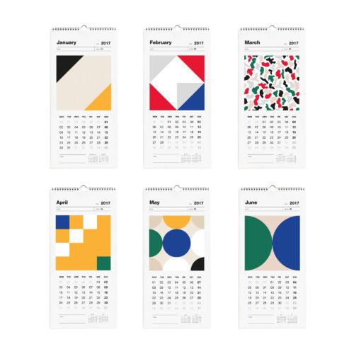 Wall Calendar 2017 Months