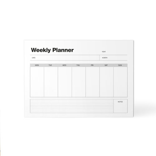 1. WEEKLY Planner A4 50 Pages