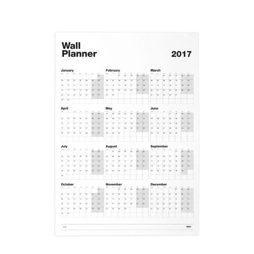 2. WALL PLANNER 2017 Orizontal side