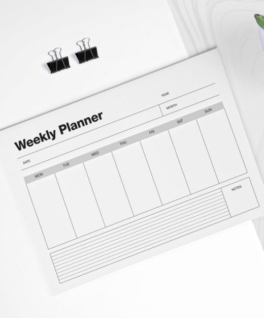 2. WEEKLY Planner Desktop Planner Home & Office Stationery Gift Idea